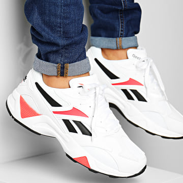 Reebok - Baskets Aztrek 96 DV7249 White Porcelain Neon Red