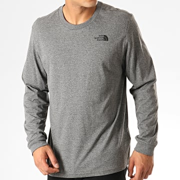 The North Face - Tee Shirt Manches Longues Simple Dome 0A3L Gris Chiné