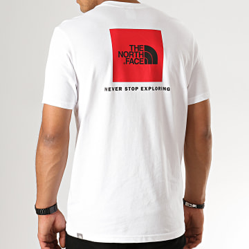 The North Face - Tee Shirt Red Box 0A2T Blanc Noir
