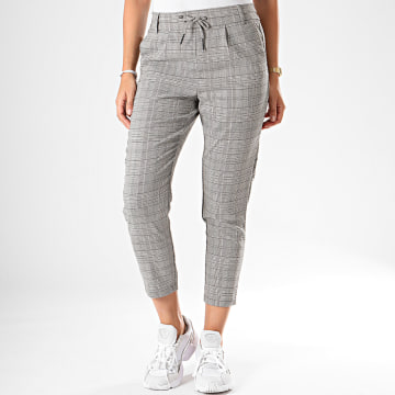 Pantalon Carreaux Femme Poptrash Easy Think Gris Marron