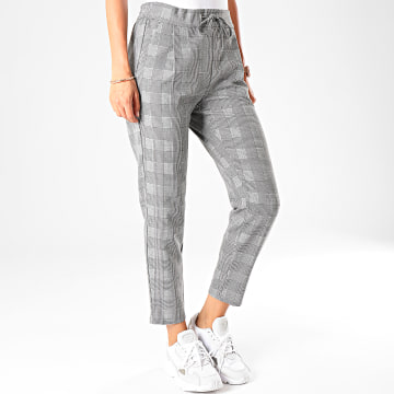 Vero Moda - Pantalon Femme A Carreaux Eva Loose Gris