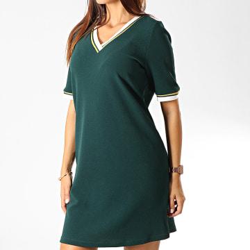 Robe Femme Manches Courtes New Sira Vert Doré
