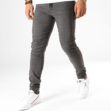 Pantalon Carreaux 20708724 Gris Anthracite Rouge