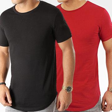 Lot de 2 Tee Shirts Oversize 934 Rouge et Noir
