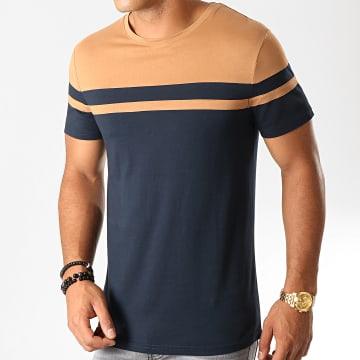 Tee Shirt Bicolore 919 Bleu Marine Camel