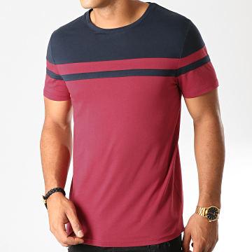 Tee Shirt Bicolore 918 Bordeaux Bleu Marine