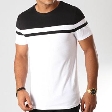Tee Shirt Bicolore 916 Blanc Noir