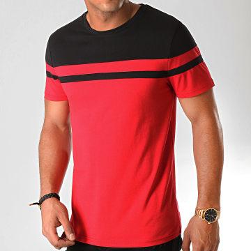 Tee Shirt Bicolore 917 Rouge Noir