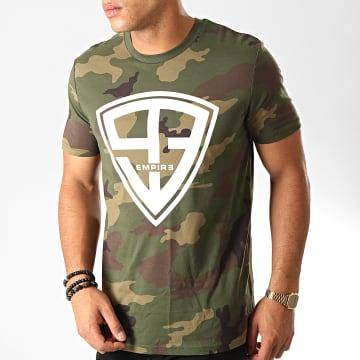 93 Empire - Tee Shirt 93 Empire Camouflage Vert Kaki