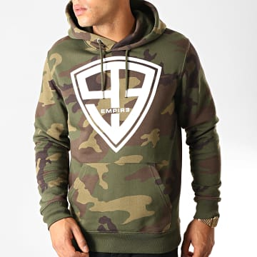 93 Empire - Sweat Capuche 93 Empire Camouflage Vert Kaki