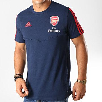 Tee Shirt De Sport Manches Longues A Bandes Arsenal EH5710 Bleu Marine Rouge
