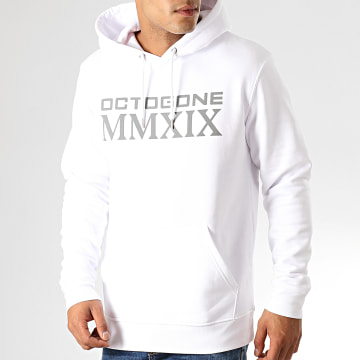 Sweat Capuche Octogone Blanc