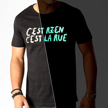 C'est Rien C'est La Rue - Tee Shirt Glow In The Dark Noir