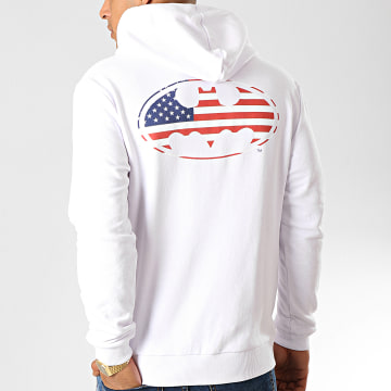 Sweat Capuche USA Back Blanc