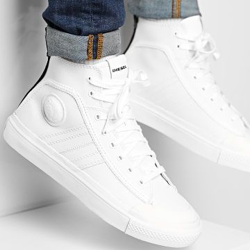Diesel - Baskets Montantes S-Astico Mid Lace Y01874-PR013 Star White