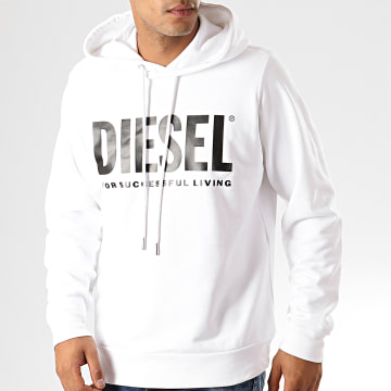 Diesel - Sweat Capuche S-Gir-Hood-Division 00SAQJ-0BAWT Blanc