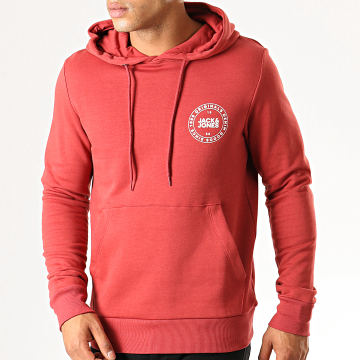 Jack And Jones - Sweat Capuche Vincey Rouge Brique