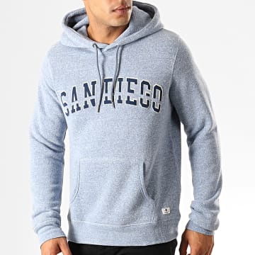 Jack And Jones - Sweat Capuche Kev Bleu Clair Chiné