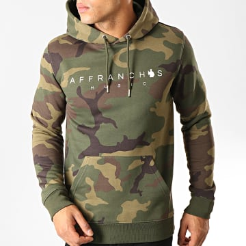 Affranchis Music - Sweat Capuche Camouflage Vert Kaki