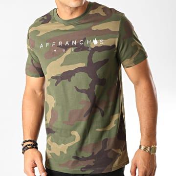Fianso - Tee Shirt Affranchis Music Camouflage Vert Kaki