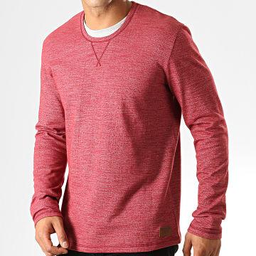 Tom Tailor - Tee Shirt Manches Longues 1013596-00-10 Bordeaux Chiné