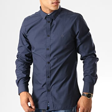 American People - Chemise Manches Longues Page Bleu Marine