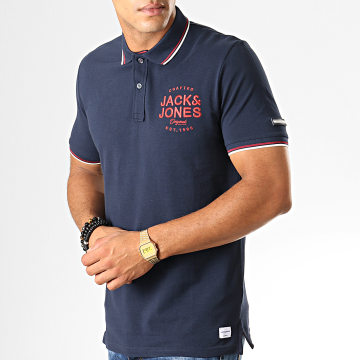 Jack And Jones - Polo Manches Courtes Upton Bleu Marine