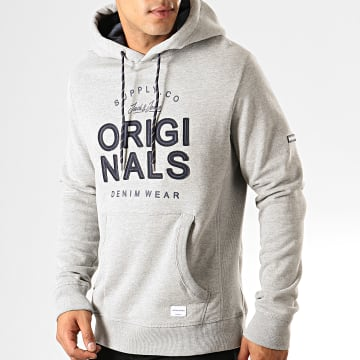 Jack And Jones - Sweat Capuche Upton Gris Chiné