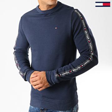 Tommy Jeans - Sweat Crewneck A Bandes 0705 Bleu Marine