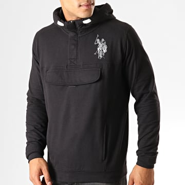 US Polo ASSN - Sweat Zippé Capuche USPA Pocket Fleece 16252907-51930 Noir Gris