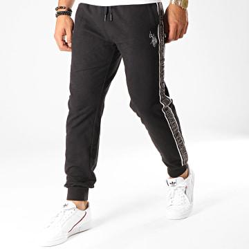 US Polo ASSN - Pantalon Jogging A Bandes USPA 11552976-51930 Noir Gris Blanc