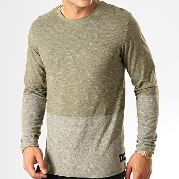 Tee Shirt Manches Longues Signs Vert Kaki Chiné