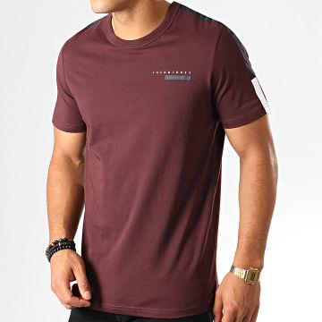 Tee Shirt A Bandes Jordy Bordeaux