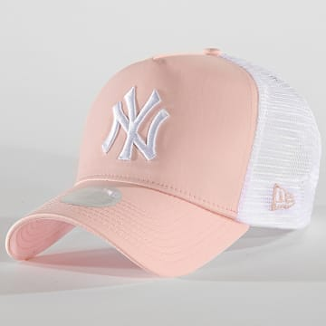 Casquette Trucker Femme Satin 12040383 New York Yankees Rose Blanc