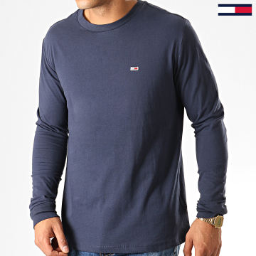 Tommy Jeans - Tee Shirt Manches Longues Classics 6959 Bleu Marine