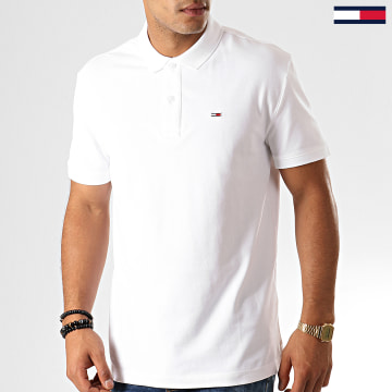 Tommy Jeans - Polo Manches Courtes Classics Solid 7196 Blanc