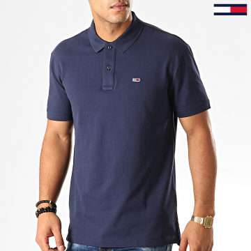 Tommy Jeans - Polo Manches Courtes Classics Solid 7196 Bleu Marine