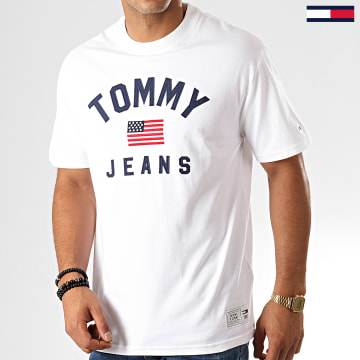 Tommy Jeans - Tee Shirt USA Flag 7068 Blanc