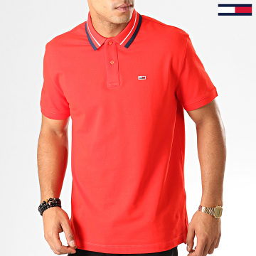 Polo Manches Courtes Classics Tipped 7195 Rouge