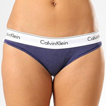 Calvin Klein - Culotte Femme F3787E Bleu Marine Chiné