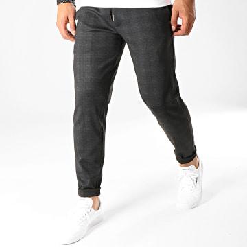 Pantalon A Carreaux Poaby 2 Gris Anthracite