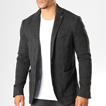 Celio - Veste Blazer A Carreaux Price Gris Anthracite