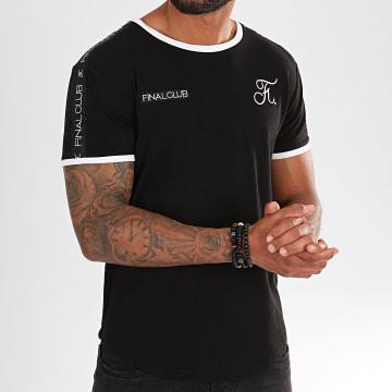 Tee Shirt Oversize Avec Bandes Et Broderies 295 Noir