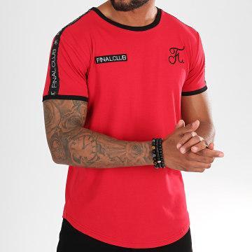 Tee Shirt Oversize Avec Bandes Et Broderies 312 Rouge