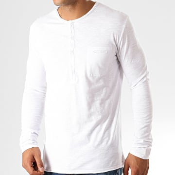 MTX - Tee Shirt Manches Longues Poche F966 Blanc