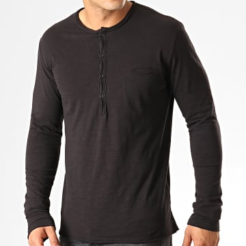 Tee Shirt Manches Longues Poche F966 Noir