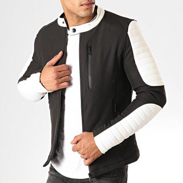 Veste Zippée 945-K1 Noir Blanc