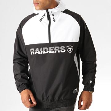 Coupe-Vent Col Zippé Capuche NFL Colour Block Oakland Raiders 12033397 Noir Blanc