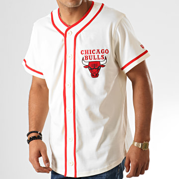 Tee Shirt De Baseball Chicago Bulls NBA Piping Button Up 12033452 Ecru