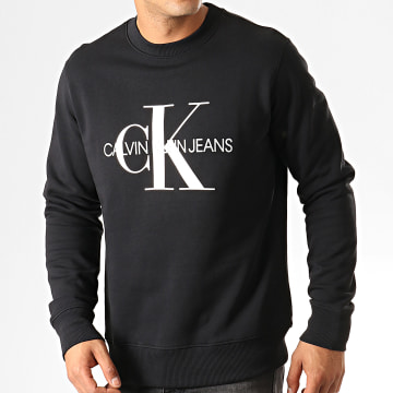 Calvin Klein - Sweat Crewneck Monogram 4313 Noir